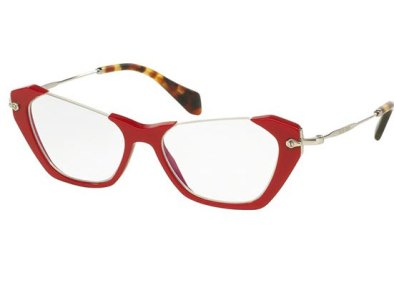 Ochelari de vedere cu rame rosii Miu Miu, Leonardo Optics