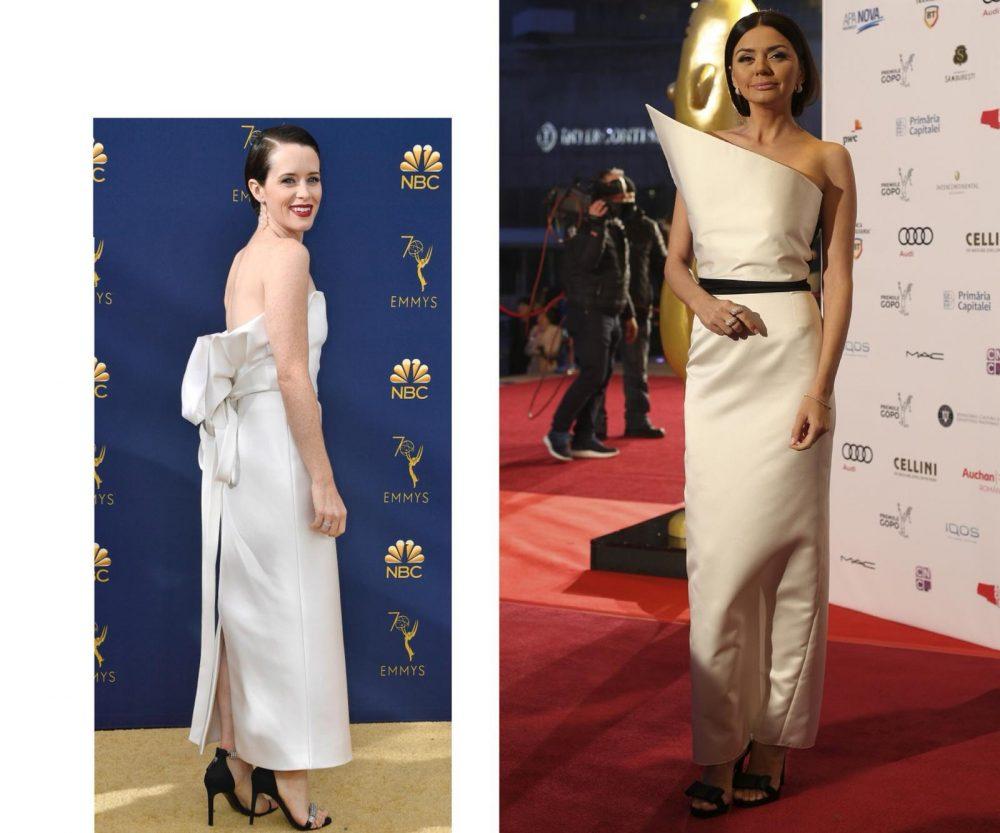 Claire Foy, la Premiile Emmy 2018 și Albertina Ionescu la Premiile Gopo 2018