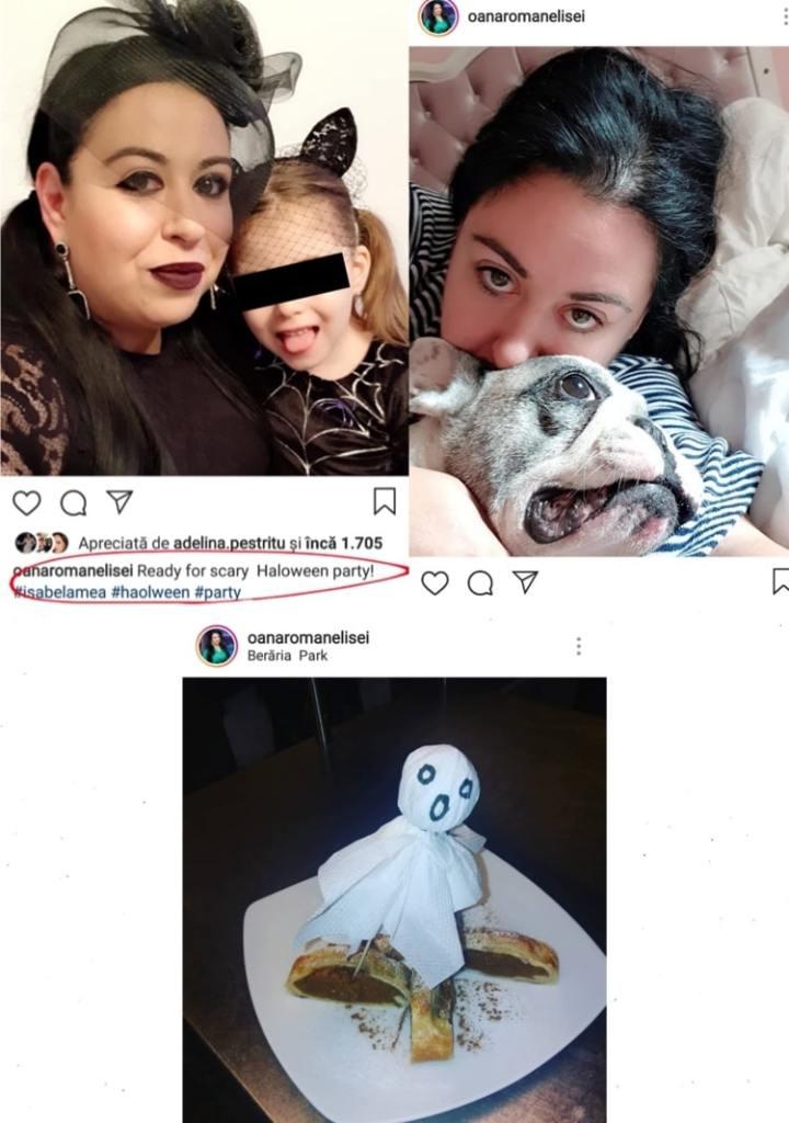 Oana Roman și fetița ei s-au pregătit de Halloween