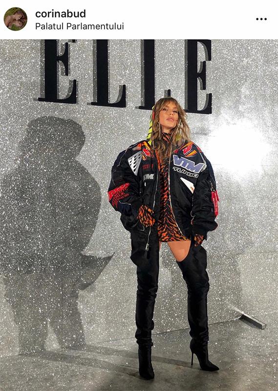 Corina Bud la Elle Style Awards comentata de Iulia Albu