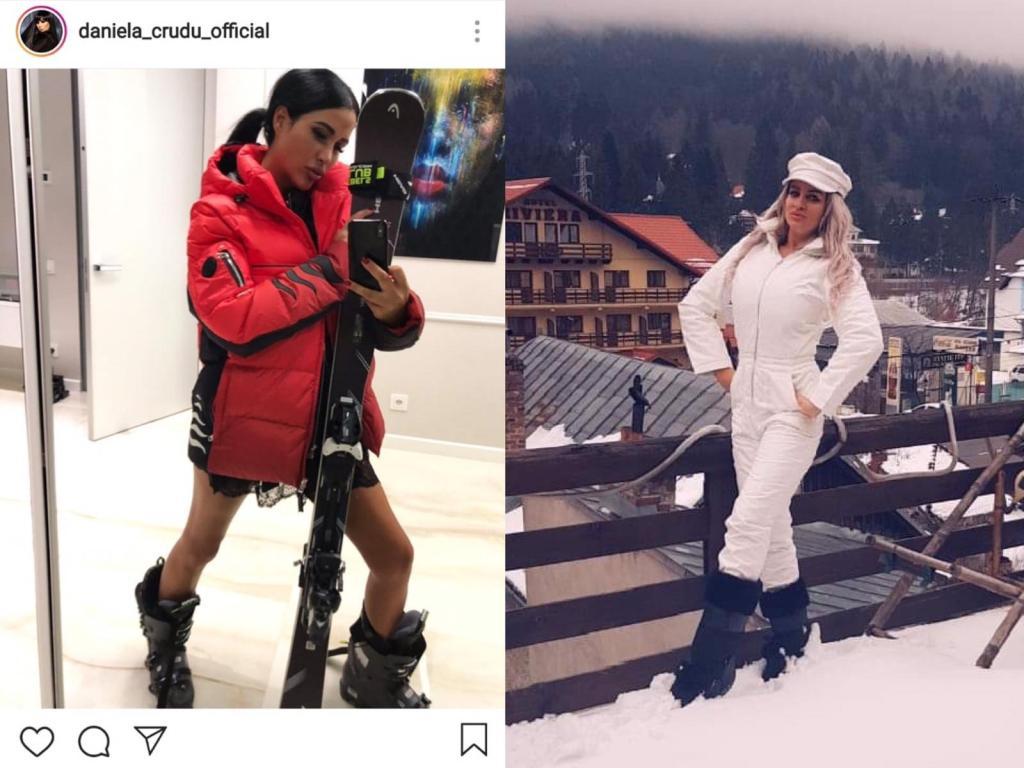 Daniela Crudu și Sânziana Buruiană se pregătesc de pârtie