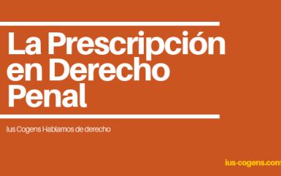 Prescripción de delitos y penas