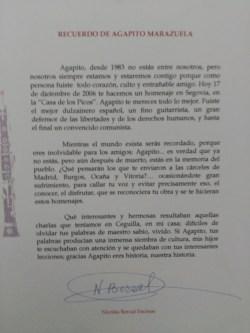 Carta de Nico a su amigo Agapito
