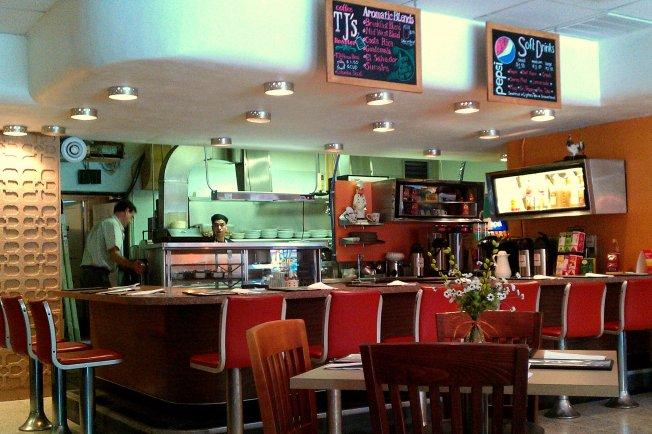 Javier's has a retro bar where patrons can order coffee. Preface photo/MANDI STEFFEY