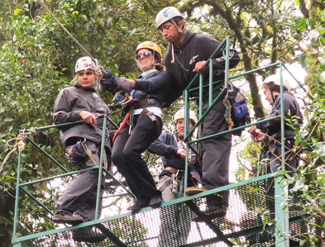 Students ziplining in Monteverde Cloud Forest. photo provided