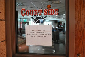 The Courtside Cafe is closed for renovations Preface Photo/ NICK WORT