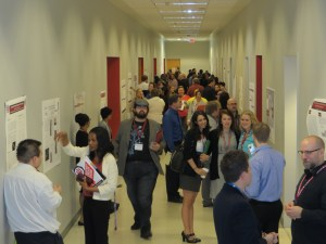 Over 100 students participated in the Undergradute Research Conference on April 18 in Wiekamp Hall. Photo/Brandon Davis