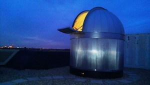 The observatory is located on the rooftop of Northside Hall.