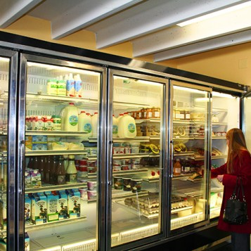 Shopper browsing the dairy section. (Preface photo/Izza Jatala)