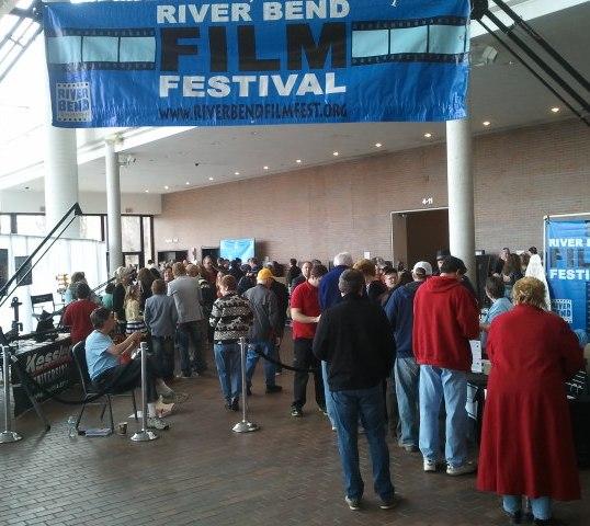 Crowd enters film festival, River Bend Film Fest, 2013. (Photo provided)