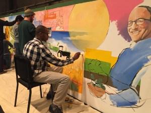Students depict Robert Colangelo. Photo credit/Ryan Lohman