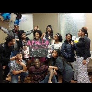 BSU members from far left top row, E'Lexus Thorton, Bryan Sutherland, Jasmine Allen, Caderia Strickland, La'Zhane Chaffers, Asia Carruthers, Sardius Giden, and Brittney Richey. Far left bottom row, Cameron Teague, Pierre Cooks, and Kara Stokes at last year's Apollo Night.