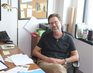 Professor of History Jonathan Nashel in his office. PHOTO/IAN BROWN