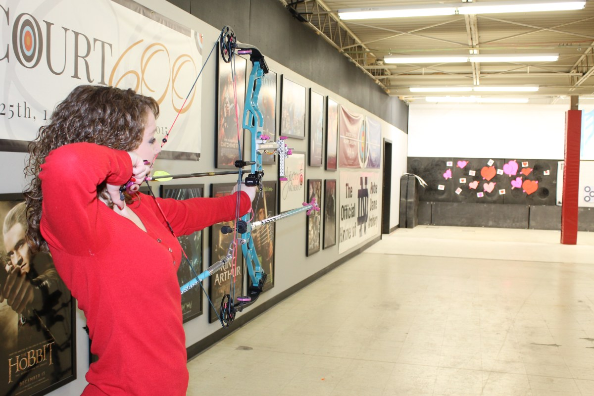 Archery Club shoots cupid's arrows in Valentine's Day potluck
