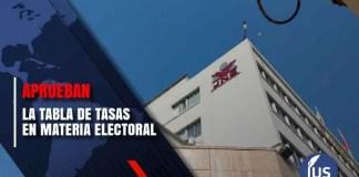 Tabla de tasas en materia electoral