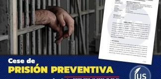 Cese de prisión preventiva