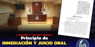 Principio de inmediación y juicio oral