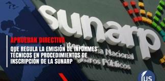 aprueban directiva que regula la emisión de informes técnicos en procedimientos de inscripción de la SUNARP