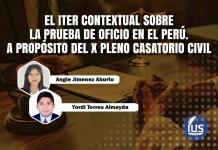 El iter contextual sobre la prueba de oficio en el Perú. A propósito del X Pleno Casatorio Civil