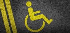 Vagas de estacionamento para portadores de necessidades especiais