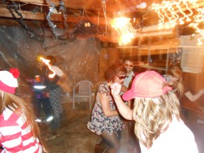 After the dance party got started, the garage was transformed!