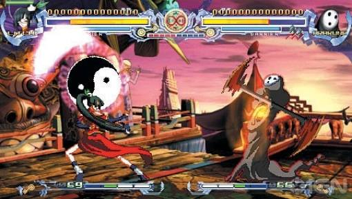 Image result for BlazBlue Calamity Trigger Portable PSP