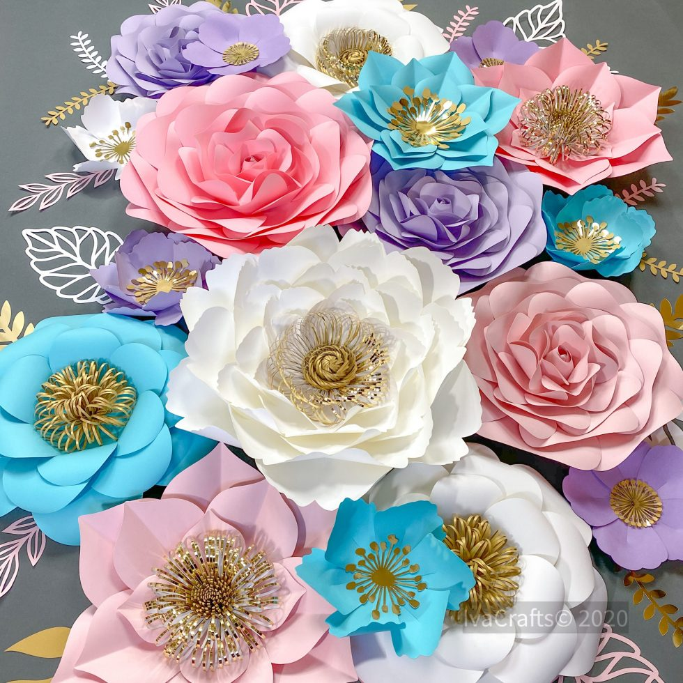 extra large paper flower backdrop