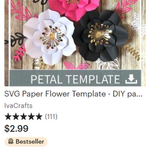 bestselling petal template