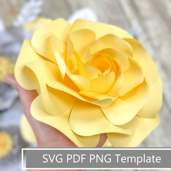 layered paper rose template