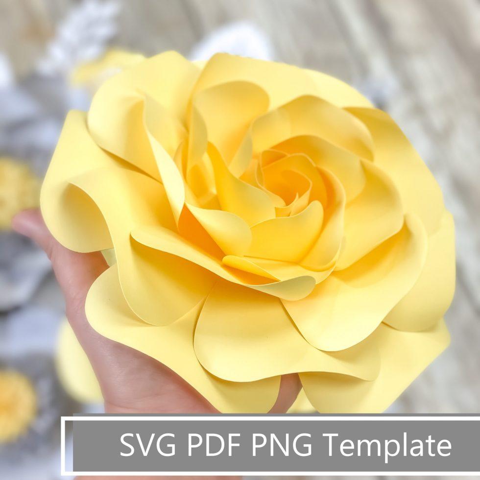 layered rose petal template