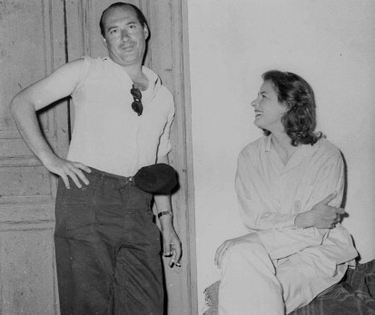 Italian producer-director, Roberto Rossellini vacationing with his wife, former Swedish actress Ingrid Bergman on the Isle of Capri, Italy, Oct. 8, 1951. (AP PHOTO/Tommaso d'Elia)
