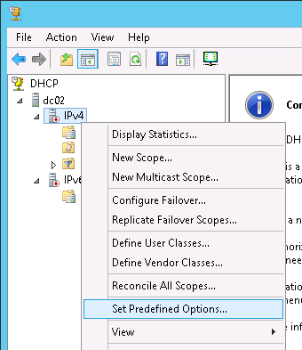 Migrating DHCP from Windows 2003 to Windows 2012 and setting up