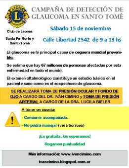 campaña glaucoma LEONES Santoto