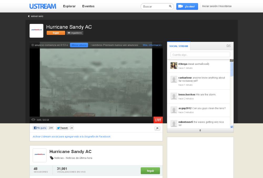 Links para seguir en streaming el huracán Sandy en New York (3/3)