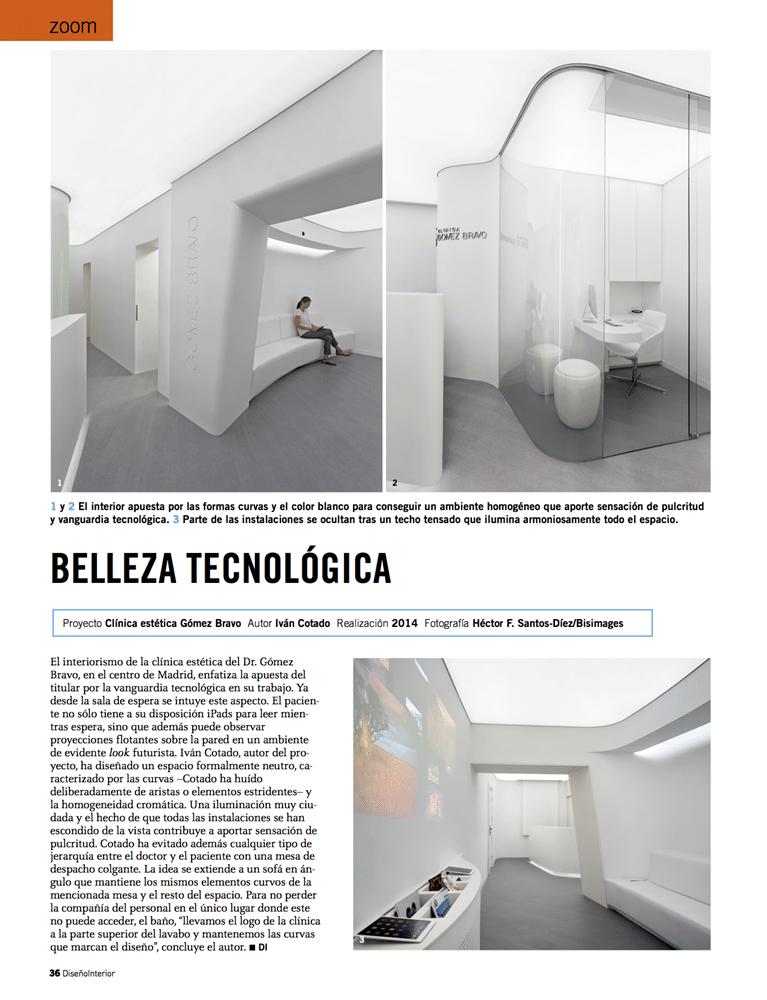 Belleza tecnológica» en el diseño de una clínica en Madrid