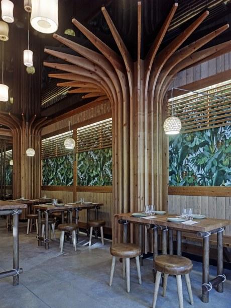 Sala en diseño de restaurante Koh Lanta en A Coruña (Galicia)