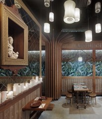 Santuario en diseño de restaurante Koh Lanta en A Coruña (Galicia)