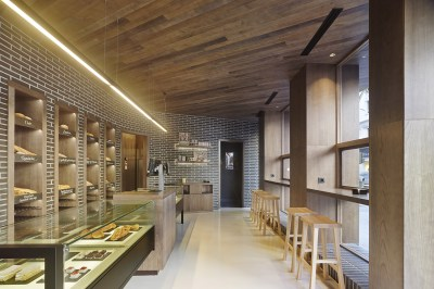 Vista general en diseño interior de Panadería Carnoedo