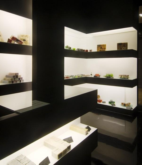 Exposición de jabones artesanales
