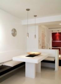 Diseño interior de piso en Galicia. Mesa de comedor diseñada y fabricada para la ocasión