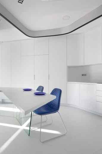Cocina minimalista-Diseño interior vivienda futurista en Elche