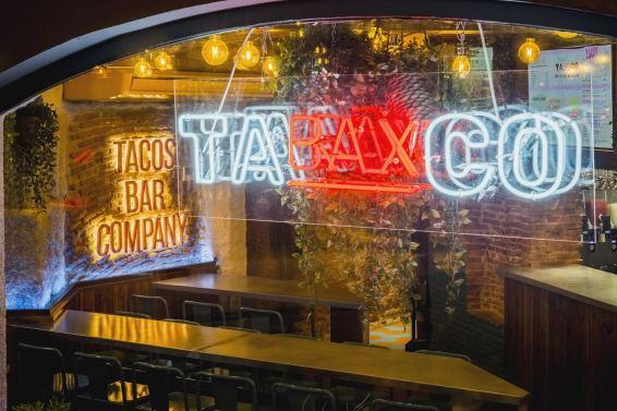 Vista exterior en Diseño restaurante mexicano Tabaxco en Madrid