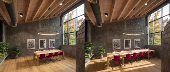 Mesa extensible en Interiorismo Estratégico en comedor para clientes de CUPA Pizarras