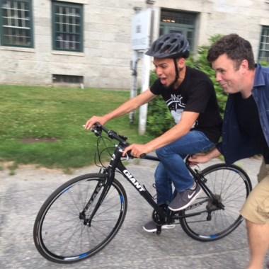 I'm riding a bike, I'm riding a bike!
