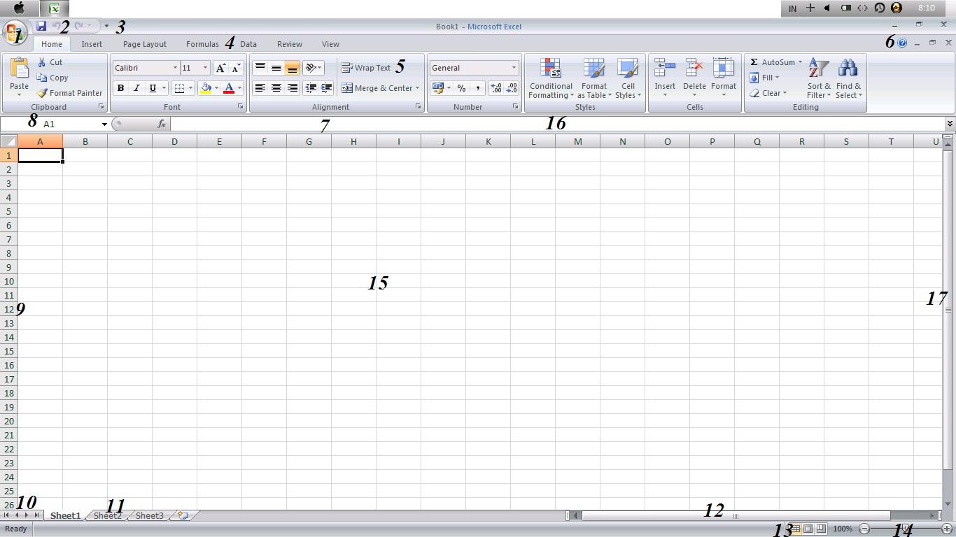 Menu Dan Fungsi Dari Microsoft Excel