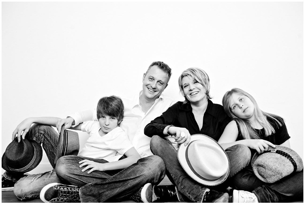 Une séance studio en famille
