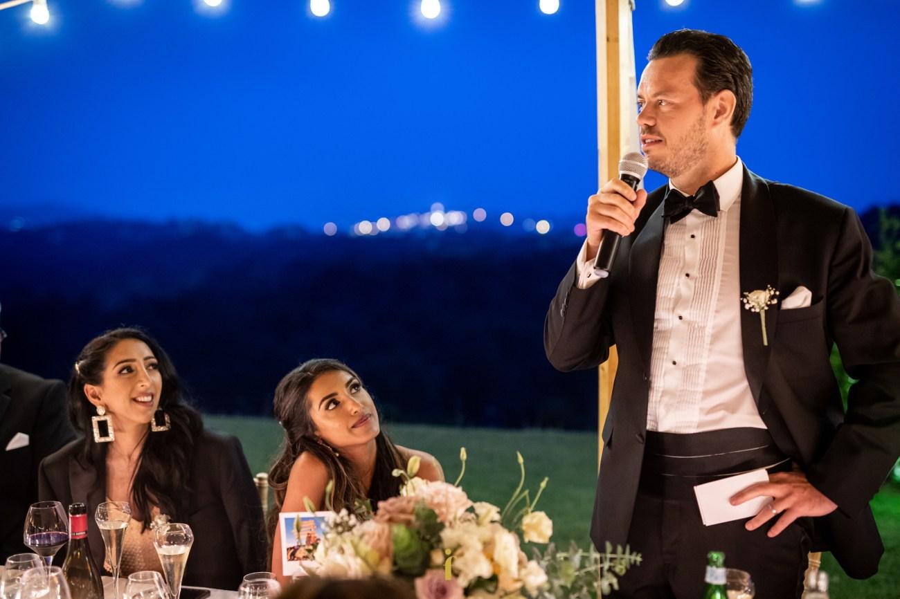 le marié fait son discours