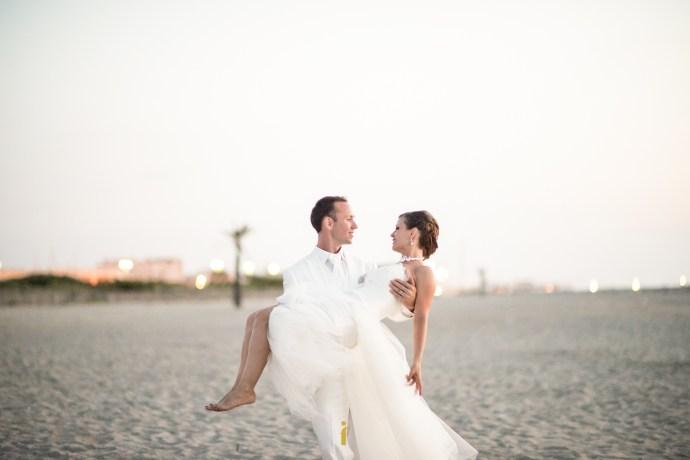 l'étreinte des mariés