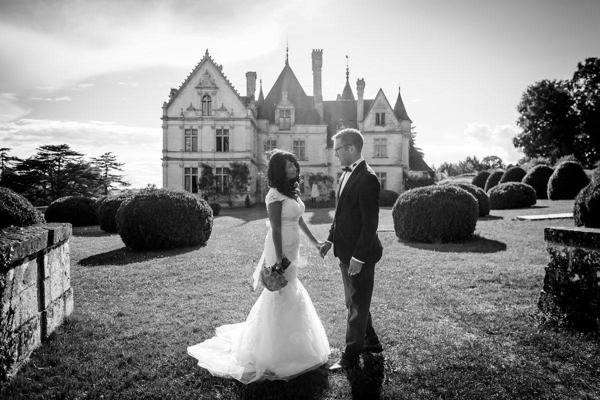 Photo de mariage au Chateau de la Bourdaisiere (37)