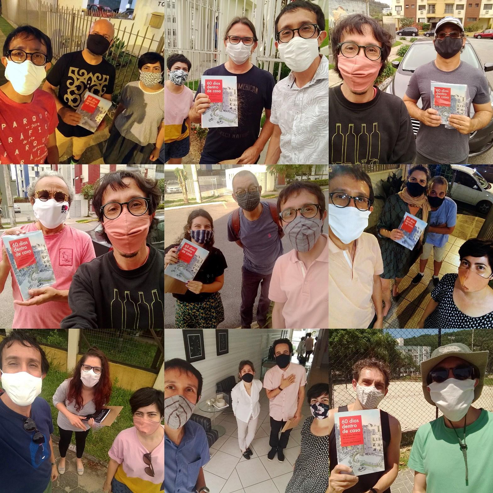 9 fotos de leitores recebendo o livro comigo